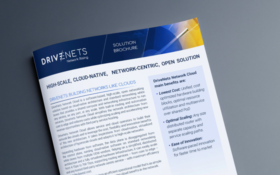 DriveNets Network Cloud Solution