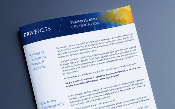 DriveNets Training & Certification Brochure